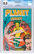 Golden Age (1938-1955):Science Fiction, Planet Comics #49 (Fiction House, 1947) CGC VF 8.0 Off-white to white pages....