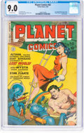 Golden Age (1938-1955):Science Fiction, Planet Comics #62 (Fiction House, 1949) CGC VF/NM 9.0 Off-white pages....