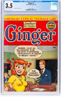 Ginger #1 (Archie, 1951) CGC VG- 3.5 Cream to off-white pages
