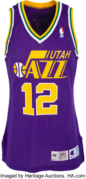 finest selection 61111 6982b 1995-96 John Stockton Game Worn Utah Jazz Jersey ...