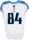 Football Collectibles:Uniforms, 2017 Corey Davis Game Worn Tennessee Titans Jersey - Photomatched to 11/26 vs. Colts....