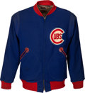 Baseball Collectibles:Uniforms, 1940's Chicago Cubs Game Worn Jacket....