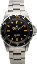 "Timepieces:Wristwatch, Rolex, Ref. 5513, Submariner ""Meters First"", Stainless Steel, Circa1966. ... (Total: 0 Items)"