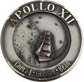 Explorers:Space Exploration, Apollo 12 Flown Silver Robbins Medallion, Serial Number 32, Directly from the Family Collection of Mission Command Module Pilo...