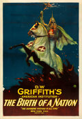 "Movie Posters:Drama, The Birth of a Nation (Epoch Producing, R-1921). Fine+ on Linen. One Sheet (28.25"" X 41"").. ..."