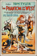 "Movie Posters:Serial, The Phantom of the West (Mascot, 1931). Rolled, Very Fine. OneSheet (27"" X 41"") Chapter 2 -- ""The Stairway of Doom."" Serial..."