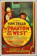 """Movie Posters:Serial, The Phantom of the West (Mascot, 1931). Rolled, Very Fine. OneSheet (27"""" X 41"""") Chapter 4 -- """"The Battle of the Strong."""" Se..."""