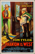 """Movie Posters:Serial, The Phantom of the West (Mascot, 1931). Rolled, Very Fine. OneSheet (27"""" X 41"""") Chapter 9 -- """"The Fatal Secret."""" Ser..."""