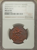 "Germany, Germany: Empire copper ""World War I Propaganda"" Medal 1914 MS64 Brown NGC,..."