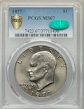 Eisenhower Dollars, 1977 $1 MS67 PCGS. CAC. PCGS Population: (29/0 and 0/0+). NGC Census: (12/0 and 0/0+). CDN: $1,000 Whsle. Bid for problem-f...