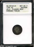 Early Half Dimes: , 1794 H10C--Plugged, Bent, Damaged, Tooled--ANACS. VG Details, NetAG3....