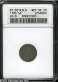 Early Half Dimes: , 1795 H10C--Scratched--ANACS. XF Details, Net VF20....