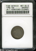 Early Dimes: , 1796 10C--Scratched, Cleaned--ANACS. Fine Details, Net VG8....