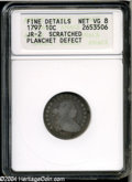 Early Dimes: , 1797 10C 13 Stars--Scratched, Planchet Defect--ANACS. Fine Details,Net VG8. ...