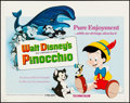 """Movie Posters:Animation, Pinocchio (Buena Vista, R-1978/Walt Disney Home Video, R-1980s).Rolled, Very Fine-. Half Sheet (22"""" X 28"""") & Video Poster (...(Total: 2 Items)"""