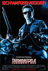 """Terminator 2: Judgment Day & Other Lot (Tri-Star, 1991). Rolled, Very Fine. One Sheet (26.7"""" X 39.75"""") &am..."""