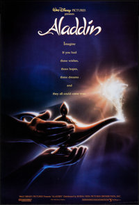 "Aladdin (Buena Vista, 1992). Rolled, Very Fine-. One Sheet (27"" X 40"") DS, Advance. John Alvin Artwork. Animat..."