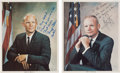 Explorers:Space Exploration, Apollo 11: Individually-Signed Business Suit Color Photos from Neil Armstrong and Buzz Aldrin to Lunar Module Mission Simulato... (Total: 2 Items)