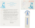 Explorers:Space Exploration, Neil Armstrong Airport Dedication Memorabilia, October 1967, including Signature on Souvenir Folder, Directly from the Collect...