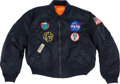 Explorers:Space Exploration, Wally Schirra's Owned and Worn Flight Jacket with Mission and NASA Patches, Directly from His Family's Collection. ...