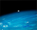 Explorers:Space Exploration, Buzz Aldrin Signed Large Color Photo of the Moon Taken from the Space Shuttle Columbia Originally from His Persona...