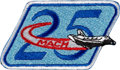 """Explorers:Space Exploration, Jerry L. Ross's Ultra-Rare """"Mach 25"""" Embroidered Patch Directly from His Personal Collection, with Signed Photo and Certificat..."""