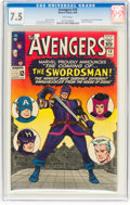 Silver Age (1956-1969):Superhero, The Avengers #19 (Marvel, 1965) CGC VF- 7.5 White pages....