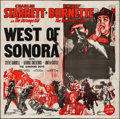 """Movie Posters:Western, West of Sonora & Other Lot (Columbia, 1948). Folded, Fine/VeryFine. Six Sheet (80"""" X 80"""") & Three Sheet (41"""" X 77"""")...."""