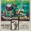 "Movie Posters:Adventure, Underwater Warrior (MGM, 1958). Folded, Very Fine. Six Sheet (80"" X79""). Adventure.. ..."