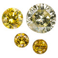 Estate Jewelry:Unmounted Diamonds, Unmounted Fancy Colored Diamonds. ... (Total: 4 Items)