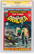 Bronze Age (1970-1979):Horror, Tomb of Dracula #1 Signature Series - Neal Adams (Marvel, 1972) CGCNM/MT 9.8 White pages....