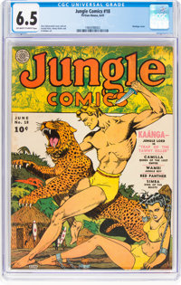 Jungle Comics #18 (Fiction House, 1941) CGC FN+ 6.5 Off-white to white pages