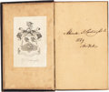 Baseball Collectibles:Others, 1839 Alexander Cartwright Signed Book, PSA/DNA Mint 9--EarliestKnown Cartwright Autograph!...
