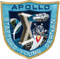 Explorers:Space Exploration, Apollo 10 Lunar Module Flown Embroidered Mission Insignia Crew Patch Originally from the Personal Collection of Mission Comman...