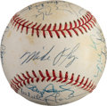 Autographs:Baseballs, Circa 1992 A.L. Cy Young Winners Multi-Signed Baseball....