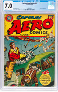 Golden Age (1938-1955):Superhero, Captain Aero Comics #16 (Continental Publications, 1944) CGC FN/VF 7.0 Cream to off-white pages....