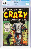Golden Age (1938-1955):Humor, Crazy #6 (Atlas, 1954) CGC NM 9.4 Off-white to white pages....