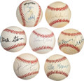 Autographs:Baseballs, 1990's-2000's Hollywood Stars Single Signed Baseballs Lot of 7.... (Total: 7 items)