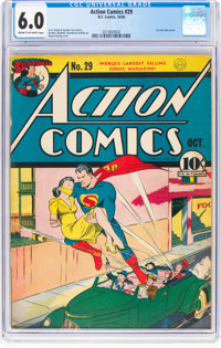 Action Comics #29 (DC, 1940) CGC FN 6.0 Cream to off-white pages