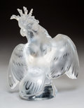 Glass, Lalique Clear and Frosted Glass Ara Cockatoo Figure. Post-1945. Engraved Lalique, France. Ht. 11-3/4 in.. ...
