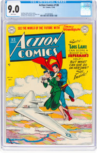 Action Comics #138 (DC, 1949) CGC VF/NM 9.0 White pages