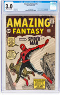 Silver Age (1956-1969):Superhero, Amazing Fantasy #15 (Marvel, 1962) CGC GD/VG 3.0 Off-white to white pages....