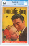 """Golden Age (1938-1955):Romance, Romantic Story #1 Davis Crippen (""""D"""" Copy) Pedigree (FawcettPublications, 1949) CGC VF 8.0 Cream to off-white pages...."""