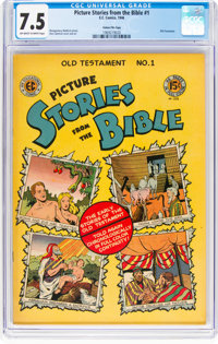 Picture Stories from the Bible Old Testament #1 Gaines File Copy 12/12(EC, 1946) CGC VF- 7.5 Off-white to white pages...