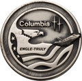 Explorers:Space Exploration, Space Shuttle Columbia (STS-2) Unflown Silver Robbins Medallion, Serial Number 204, Originally from the Personal C...