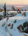 American, John Philip Falter (American, 1910-1982). Snow Day, The SaturdayEvening Post cover, December 18, 1948. Oil on canvas. 2...