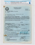 Explorers:Space Exploration, U.S. Naval Reserve: Neil Armstrong's Signed Copy of His 1954-dated Appointment to Lieutenant (Junior Grade), Directly ...