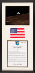 Explorers:Space Exploration, Apollo 10 Flown American Flag Originally from the Personal Collection of Mission Commander Tom Stafford, Signed and Certified ...