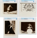 Explorers:Space Exploration, Apollo 11, July 20, 1969: Lot of Four Artist Conceptions of the Lunar Landing Original AP Wirephotos Directly From The Armstro... (Total: 4 Items)