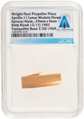 Explorers:Space Exploration, Apollo 11 Lunar Module Flown Piece of the Wright Flyer Propeller,Flown as Part of the First Successful Powered Flight in Hist...